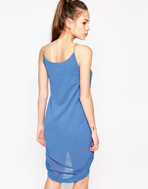 photo Anja Drape Dress with Chain Straps by Jovonna, color Blue - Image 2