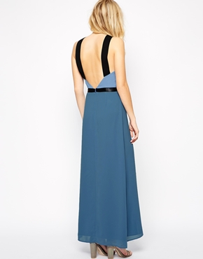photo Do It Right Maxi Dress by Jovonna, color Blue Print - Image 2