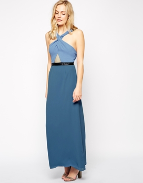 photo Do It Right Maxi Dress by Jovonna, color Blue Print - Image 1