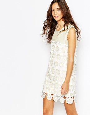 photo Brook Shift Dress In Lace by Jovonna Premier, color Cream - Image 1