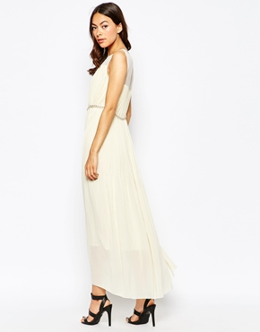 photo Butter Wouldnt Melt Maxi Dress with Embellishment by Jovonna Premier, color Cream - Image 2