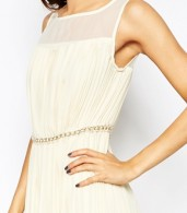 photo Butter Wouldnt Melt Maxi Dress with Embellishment by Jovonna Premier, color Cream - Image 3