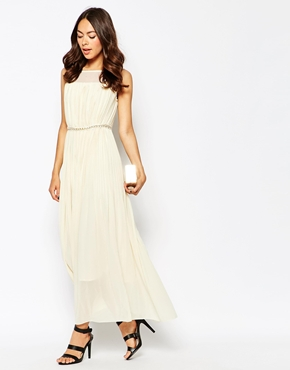 photo Butter Wouldnt Melt Maxi Dress with Embellishment by Jovonna Premier, color Cream - Image 4