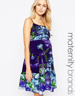 photo Gypsy Tiered Maternity Cami Dress by Kate Thomas, color Floral - Image 1