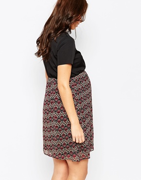 photo Maternity Skater Dress with Paisley Skirt by Kate Thomas, color Black Multi - Image 2