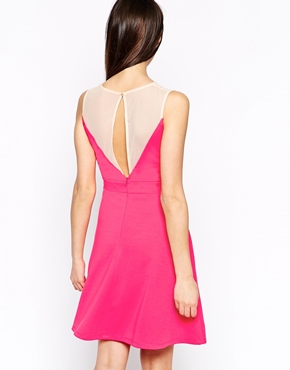 photo Caviar Beaded Skater Dress by Lashes of London, color Pink - Image 2