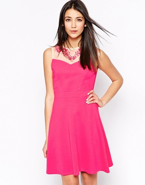 photo Caviar Beaded Skater Dress by Lashes of London, color Pink - Image 1