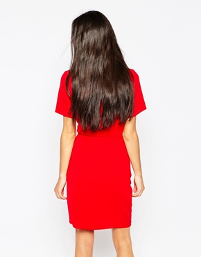 photo Dress with Gathered Waist by Lashes of London, color Red - Image 2