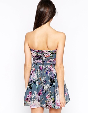 photo Floral Bandeau Dress by Lashes of London, color Multi - Image 2