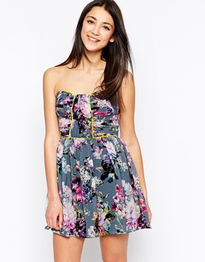 photo Floral Bandeau Dress by Lashes of London, color Multi - Image 1