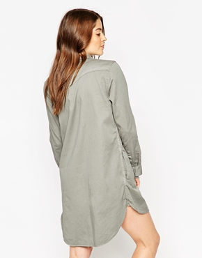 photo Levi's Western Shirtdress In Pewter, color Pewter - Image 2