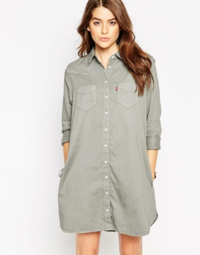 photo Levi's Western Shirtdress In Pewter, color Pewter - Image 1