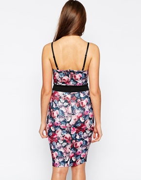 photo Helena Floral Pencil dress by Lipstick Boutique, color Floral - Image 2
