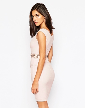 photo Cameron Dress with Embellished Waist by Little Black Dress, color Pink - Image 2