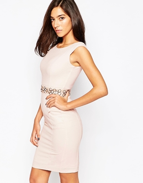 photo Cameron Dress with Embellished Waist by Little Black Dress, color Pink - Image 1