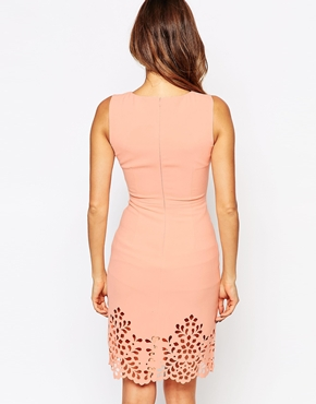 photo Eva Dress with Cutwork Hem by Little Black Dress, color Peach - Image 2