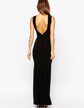 photo Jennifer Maxi Dress with Lace Inserts by Little Black Dress, color Black - Image 2