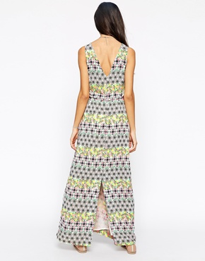 photo Ubud Maxi Dress by Meghan Fabulous, color Green Pink - Image 2