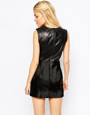 photo Ella Leather Dress by Muubaa, color Black - Image 2