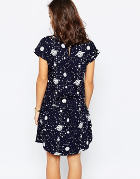 photo Cosmo Short Sleeve Shirt Dress by Noisy May Petite, color Black White - Image 2