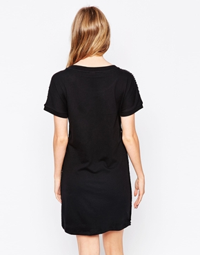 photo All Over Sequin Sweat Dress by Object, color Black - Image 2
