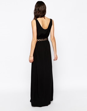 photo Sleeveless Maxi Dress with Cut Out Detail by One Fashion By Vero Moda, color Black - Image 2