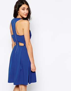 photo Cut Out Back Sleeveless Dress by Pieces, color Blue - Image 2
