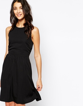 photo Cut Out Back Sleeveless Dress by Pieces, color Black - Image 2