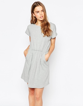 photo Omara Jersey Dress by Pieces, color Light Grey - Image 1