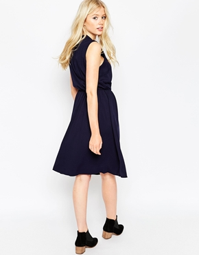 photo Sleeveless Skater Dress by Pieces, color Navy - Image 2