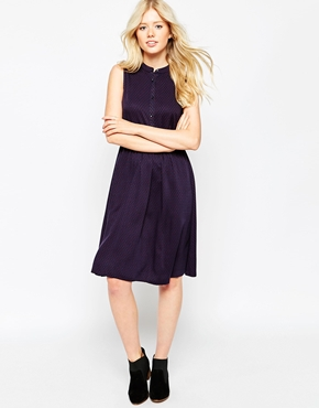 photo Sleeveless Skater Dress by Pieces, color Dot - Image 1