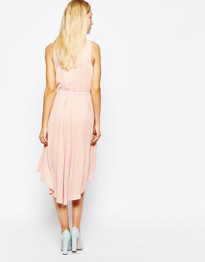 photo Pleated Georgette Dress by POP CPH, color Rose - Image 2