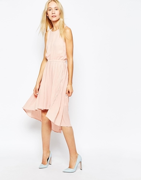 photo Pleated Georgette Dress by POP CPH, color Rose - Image 1