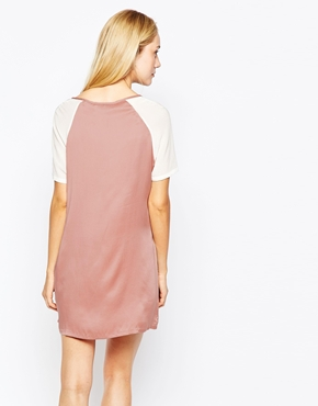 photo Sand-Washed Silk Georgette Dress by POP CPH, color Rose - Image 2