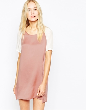 photo Sand-Washed Silk Georgette Dress by POP CPH, color Rose - Image 1