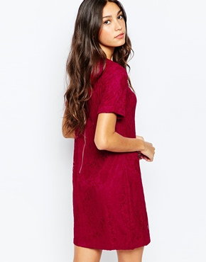 photo Anne Dress In Lace by Poppy Lux, color Berry - Image 2