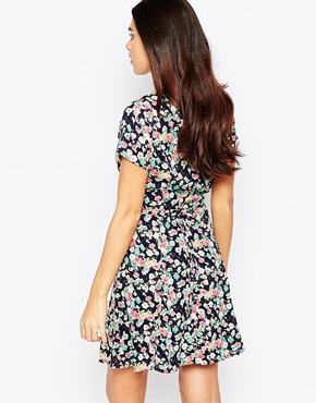 photo Olivia Skater Dress In Ditsy Floral Print by Poppy Lux, color Multi - Image 2