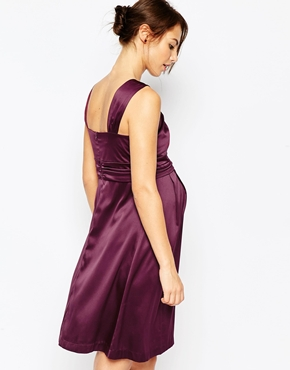photo Maternity Samantha Shift Dress by Ripe, color Wine - Image 2