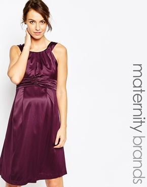photo Maternity Samantha Shift Dress by Ripe, color Wine - Image 1