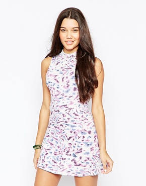 photo High Neck Floral Sundress by RVCA, color Multi - Image 1