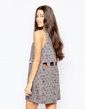 photo Sundress with Cut Out Detail by RVCA, color Gray Ice - Image 2