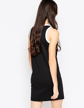 photo Anchor Pocket T-Shirt Dress with Contract Trim by See by Chloe, color Black and White - Image 2