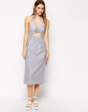 photo Halterneck Dress by See by Chloe, color Blue Stripe - Image 1