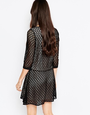 photo Lace Dress with Drop Hem by See by Chloe, color Black - Image 2