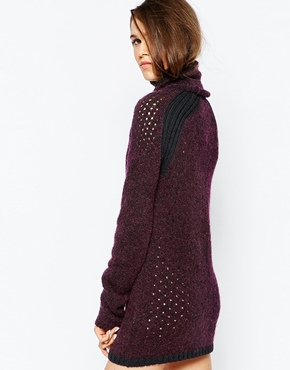 photo Rollneck Jumper Dress by See by Chloe, color Aubergine - Image 2