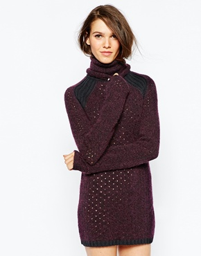 photo Rollneck Jumper Dress by See by Chloe, color Aubergine - Image 1