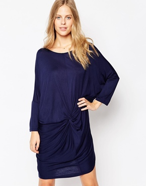 photo 3/4 Sleeve Shift Dress by Soaked in Luxury, color Royal Blue - Image 1