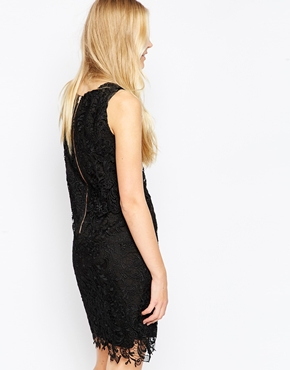 photo Lace Overlay Dress by Soaked in Luxury, color Black - Image 2