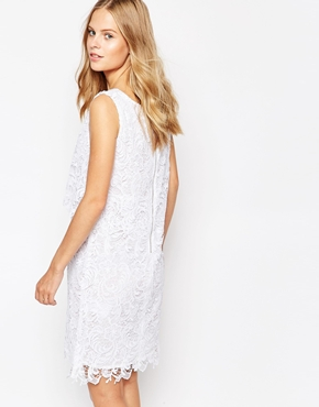photo Lace Overlay Dress by Soaked in Luxury, color Pure White - Image 2