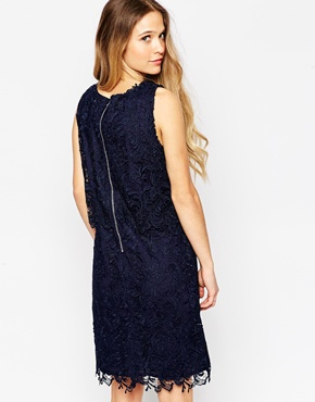 photo Lace Overlay Dress by Soaked in Luxury, color Royal Blue - Image 2